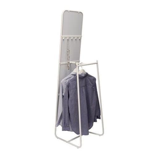 Gulvspejl, b: 48 h: 160, Gulvspejl i hvid fra Ikea. Står ...