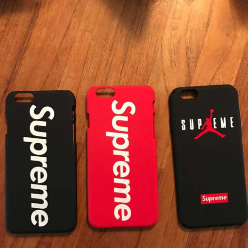 Supreme Cover til iPhone 5,6,7 panserglas mm.