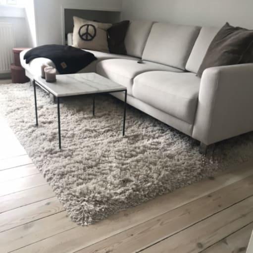 Gulv tæppe i beige