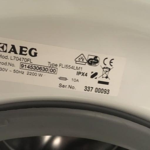 Vaskemaskine AEG Lavamat Protex