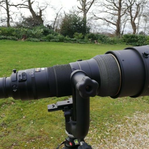 Nikkor AF-S 400mm f2.8 G ED VR-objektiv + TC-20 2x + stativ + fatning + kasser