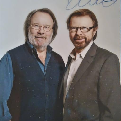 ABBA Bjørn autograf