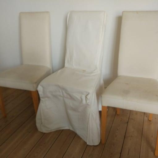 12 hvide spisebordsstole fra ILVA