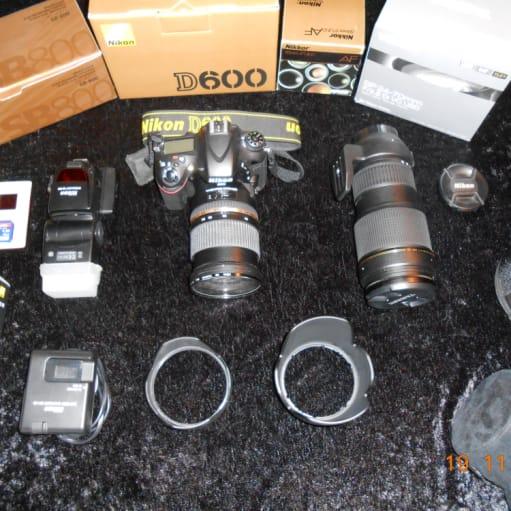 NIKON D 600 digitalt spejlrefleks kamera med alt tilbehør