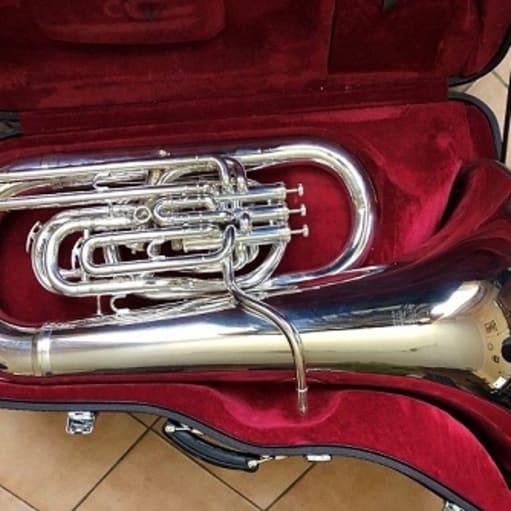 Tuba EEb BESSON model BE981 SOVEREIGN - sølv