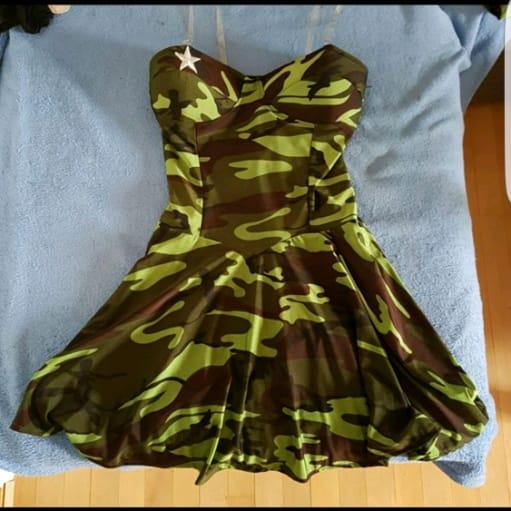 Militær pige kostume
