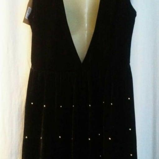 Ny velour kjole Str. L