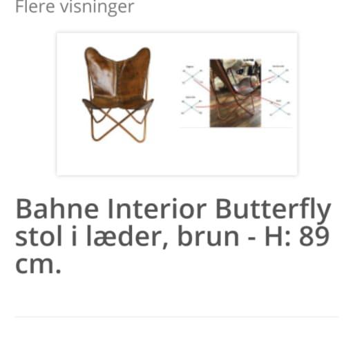 Butterfly Lounge Lænestol sælges