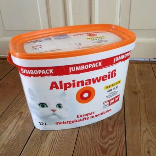 12 liter Hvid Farve til Væg - Alpina