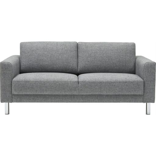 Sofa Riviera 53 Light Grey stof ben i krom