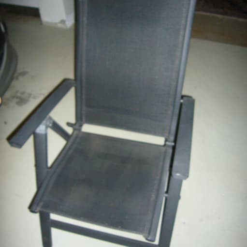 2 stk sammenklappelige havestole med 5 trins indstilling