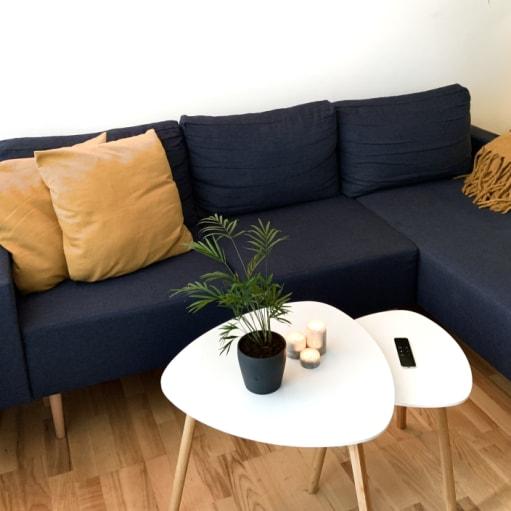 Praktisk 3-personers chaiselong sofa fra JYSK