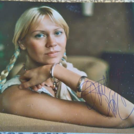 ABBA Agnetha autograf