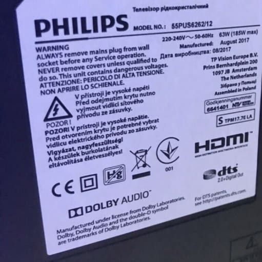 Philips led 55' 2 år gammelt