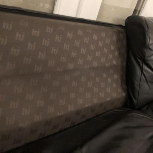 Sort Lædersofa