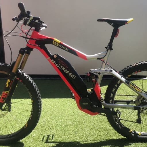 2018 Haibike Electric Mountain Bike X DURO 10.0 fuld suspension