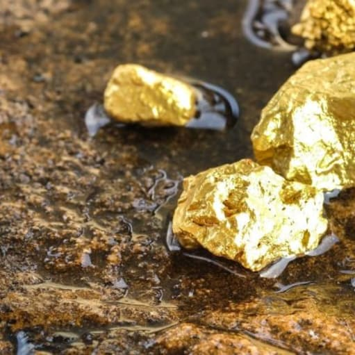 25 kg guldklumper og 1.500 karat diamanter
