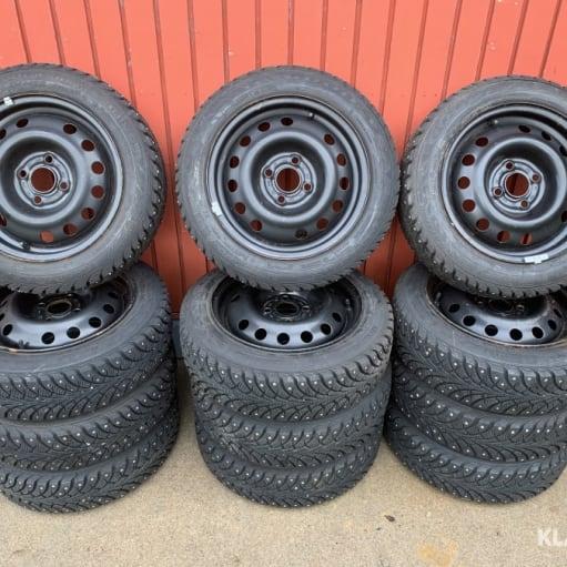 Chevrolet Spark, Aveo, Kalos, mfl.  4 Vinterhjul med Ispigge