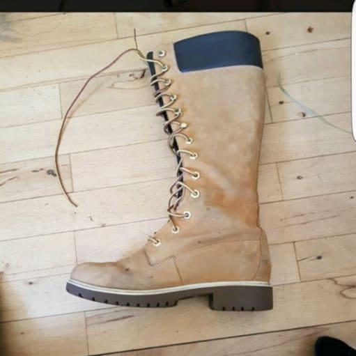 Timberlands støvler med snøre