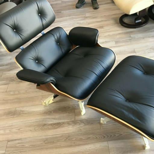 Herman Miller Eames Lounge Chair - palisander - sort læder