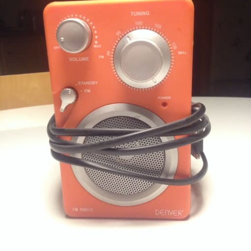 Orange designer radio