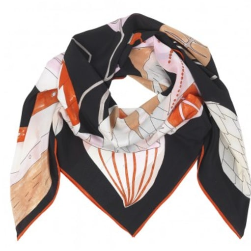Smukt silketørklæde fra Becksøndergaard