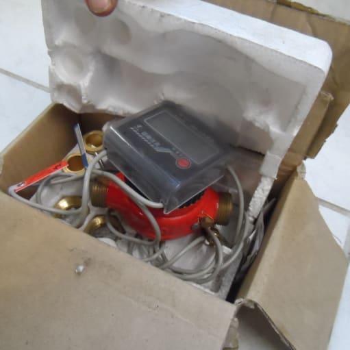 Energimåler med 2 temperatur følere – I orig. emballage – brugt