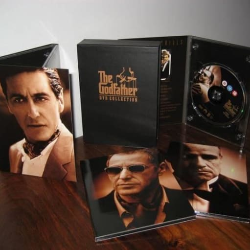 dvd boks the godfather