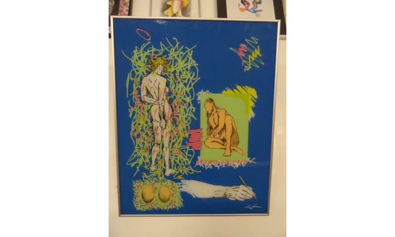 """Kunstværk """"Uden Titel"""", Fl. Jensen – 49x61cm"""