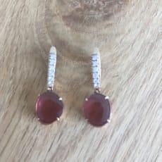 18 karat rosé guld øreringe