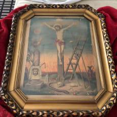 Gammelt maleri af Jesus sælges