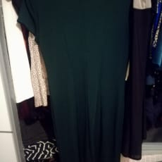 Mango kjole mørkegrøn