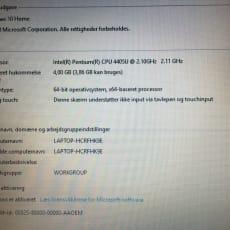 Lenovo 15 4GB RAM CPU 2,10 GHz
