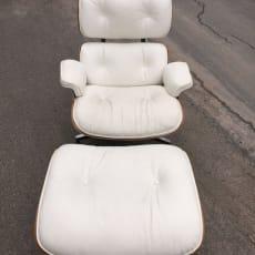 1982 Herman Miller Eames Lounge - Rosewood - Hvid Læder