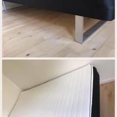 Boxmadras (120x200)  med topmadras og stålmeder (ben)