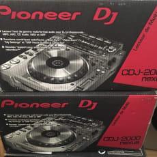 2 x Pioneer CDJ2000 Nexus DJM 900 Mixer RMX1000-M Remix Station - begrænset udgave