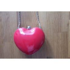 Hjerte crossbody rød taske