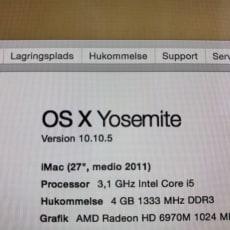 iMac, IMAC intel, 3,1 GHz, God, Jeg sælger min 27