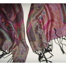 Flot stort tørklæde 185 x 71