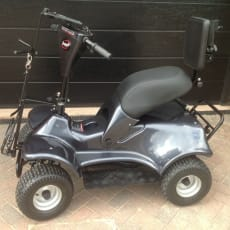 I-M4 enkeltsædet golf buggy - grafit sort