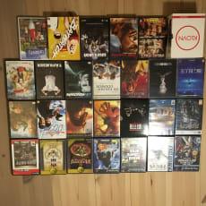 27x forskellige film, serier, computerspil og PS2-spil