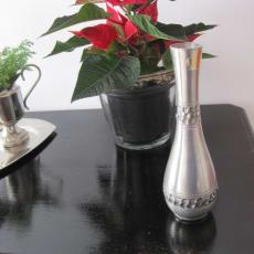 Perletin vase højde 17 cm