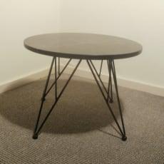 Lille, rundt lounge bord i sort (Georgia)