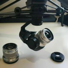 DJI Inspire 2 med X5S med 12mm45mm linser