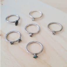 Ringe i sølv fra Spinning