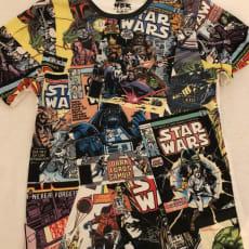 T-shirt, - StarWars, Løver og verdens kort
