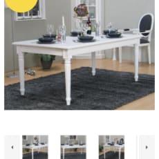 Spisebord med bænke