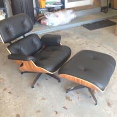 Herman Miller Eames Lounge stol - Palisander & sort læder