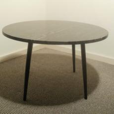 Lille rundt lounge bord i sort (Bridgeport)