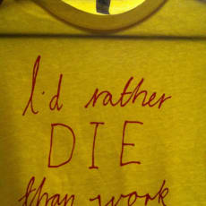 T-shirt Im not working